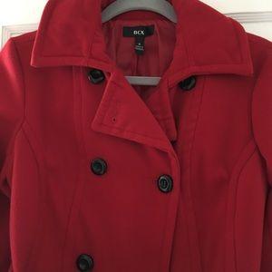 Cute red pea coat